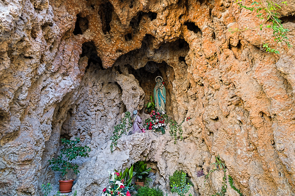 shrine in the rocks